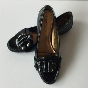 Ellen Tracy   Black Patent Loafers Size 5.5